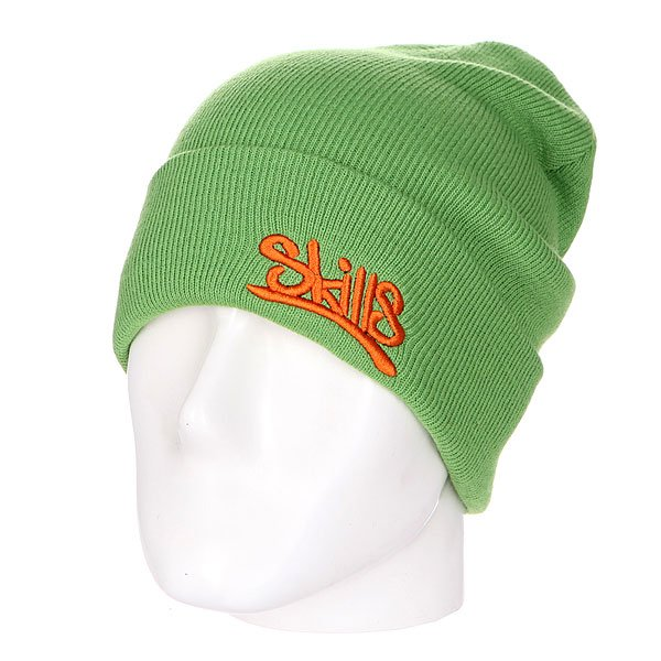 Шапка Skills New Beanie 001 Olive Brick<br><br>Цвет: зеленый<br>Тип: Шапка носок<br>Возраст: Взрослый