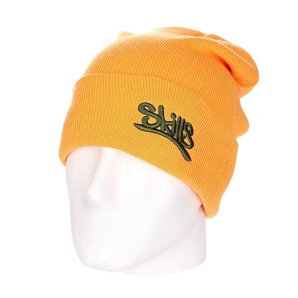 Шапка Skills New Beanie 001 Sand OliveШапка Skills New Beanie – это комфорт и тепло для вашей головы.Характеристики:Изготовлена из 100% акрила. Широкий отворот. Вышитый логотип на лицевой части.<br><br>Цвет: оранжевый<br>Тип: Шапка носок<br>Возраст: Взрослый<br>Пол: Мужской