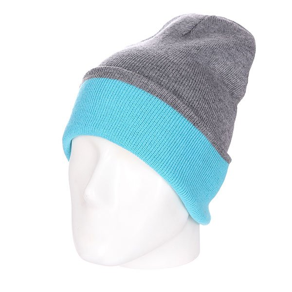Шапка двусторонняя Skills New Reversible Beanie Heather Grey/Melange Blue шапка kini red bull reversible beanie  серый