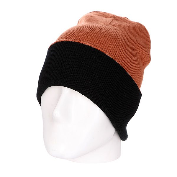 Шапка двусторонняя Skills New Reversible Beanie Black/Brown