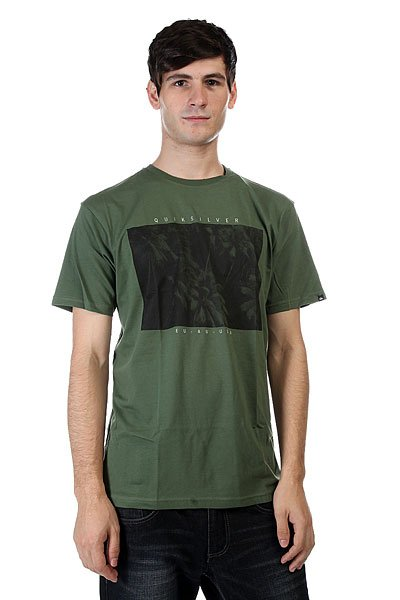 Футболка Quiksilver Palm Pop Bronze Green футболка lonsdale lonsdale lo789empft70