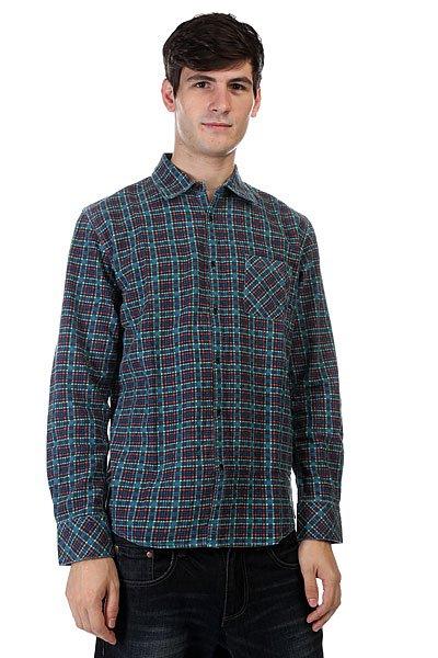 Рубашка в клетку Quiksilver Pinelook Print Feder<br><br>Цвет: синий<br>Тип: Рубашка в клетку<br>Возраст: Взрослый<br>Пол: Мужской