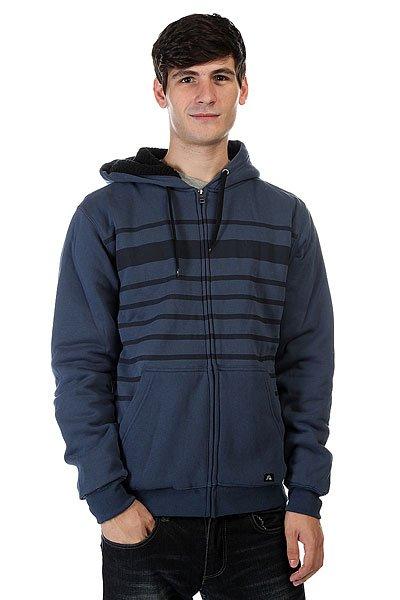 Толстовка утепленная Quiksilver Stripe Sherpa Dark Denim<br><br>Цвет: синий<br>Тип: Толстовка утепленная<br>Возраст: Взрослый<br>Пол: Мужской