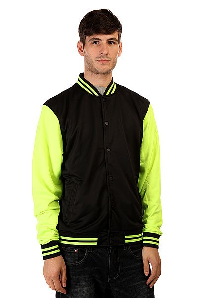 Бомбер Urban Classics Neon College Black Yellow