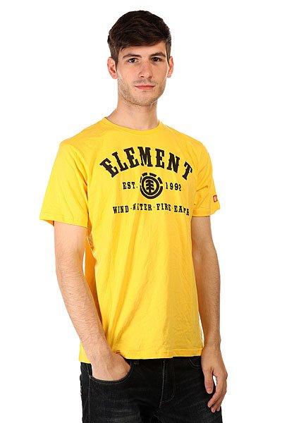 Футболка Element Saddle Lemon Drop<br><br>Цвет: желтый<br>Тип: Футболка<br>Возраст: Взрослый<br>Пол: Мужской