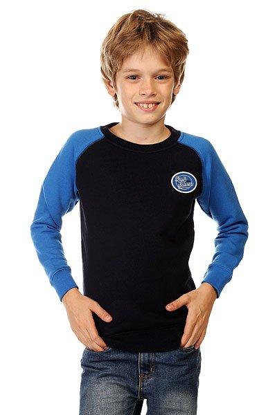 Толстовка детская Quiksilver Act Crew Blo Victoria Blue<br><br>Цвет: синий,голубой<br>Тип: Толстовка классическая<br>Возраст: Детский