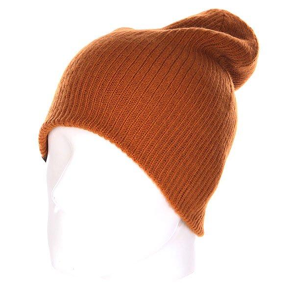 Шапка носок Quiksilver Wood Beanie Pumpkin Spice<br><br>Цвет: коричневый<br>Тип: Шапка носок<br>Возраст: Взрослый<br>Пол: Мужской
