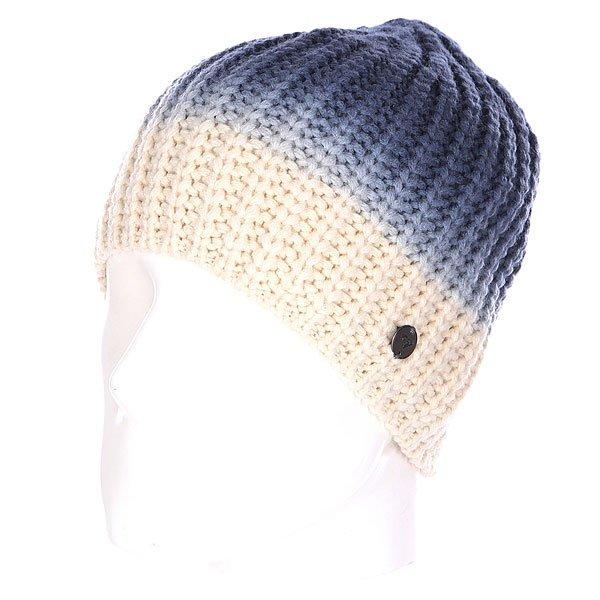 Шапка вязаная женская Roxy Cosy Easy Ensign Blue<br><br>Цвет: синий,бежевый<br>Тип: Шапка<br>Возраст: Взрослый<br>Пол: Женский