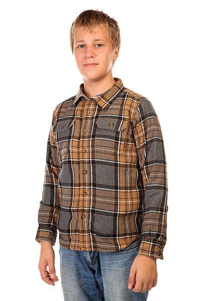 Рубашка утепленная детская Burton Cole Inca Pitkin Pld<br><br>Цвет: серый,коричневый<br>Тип: Рубашка утепленная<br>Возраст: Детский