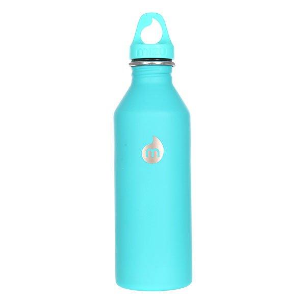 Бутылка для воды Mizu M8 800ml St Mint Le W Mint Loop CapБутылка из пищевой нержавеющей стали для тех, кто заботится об окружающей среде и своем здоровье. Характеристики:Объем: 800 мл. Диаметр: 7 см. Высота (с крышкой): 26 см. Специальная форма горлышка для аккуратного налива. Не для горячих жидкостей. Не содержит вредного BPA. Многоразовое использование. Материал: пищевая нержавеющая сталь сорта 18/8.<br><br>Цвет: зеленый<br>Тип: Бутылка для воды