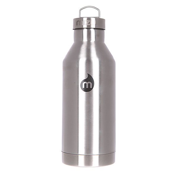 Бутылка для воды Mizu V6 600ml Stainless W Black Print Steel Cap