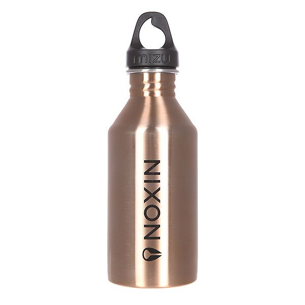 Бутылка для воды Mizu Nixon M6 600ml Lock Up Glossy Rose Gold W Black Print