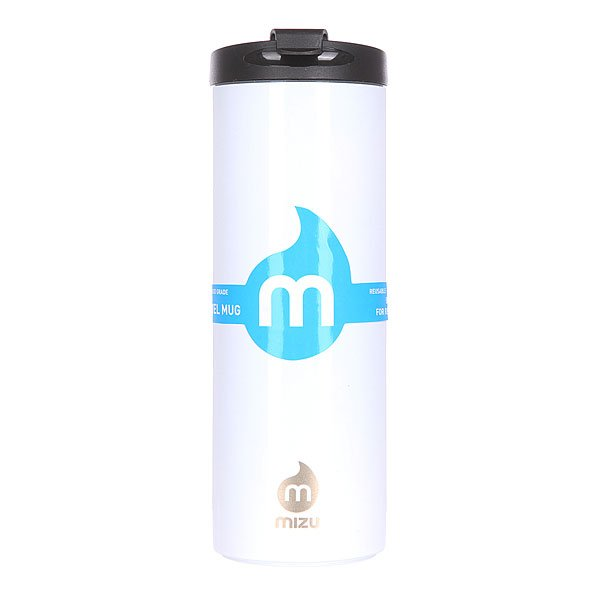 Бутылка для воды Mizu Travel Mug 500ml Glossy White Le