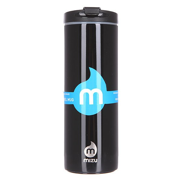 Бутылка для воды Mizu Travel Mug 500ml Glossy Black Le