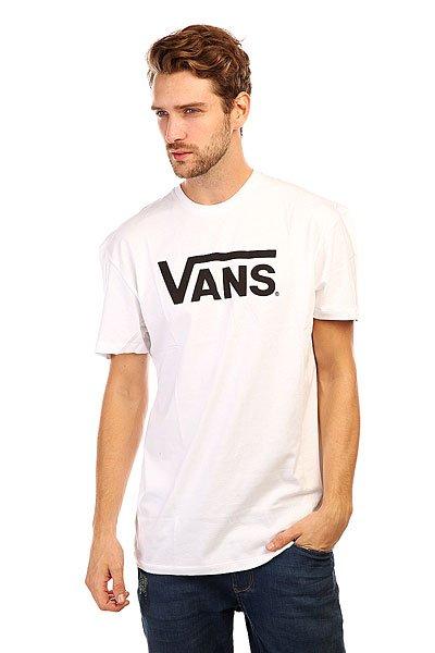 Футболка Vans Classic White/Black<br><br>Цвет: белый<br>Тип: Футболка<br>Возраст: Взрослый<br>Пол: Мужской