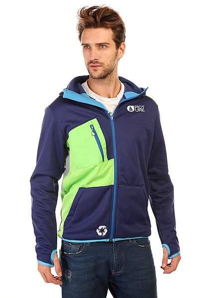 Толстовка сноубордическая Picture Organic Access Dark Blue<br><br>Цвет: фиолетовый,зеленый<br>Тип: Толстовка сноубордическая<br>Возраст: Взрослый<br>Пол: Мужской