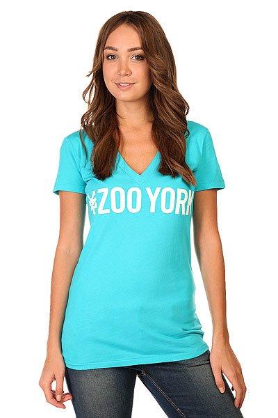 Футболка женская Zoo York Logo Block Bluebird<br><br>Цвет: голубой<br>Тип: Футболка<br>Возраст: Взрослый<br>Пол: Женский