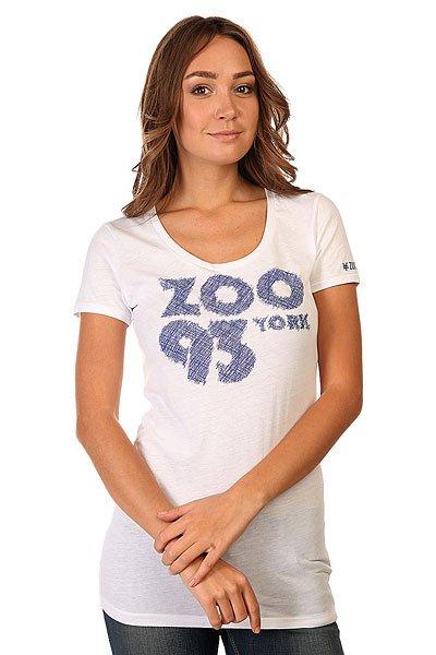Футболка женская Zoo York Zoo 93 Scribble White<br><br>Цвет: белый<br>Тип: Футболка<br>Возраст: Взрослый<br>Пол: Женский