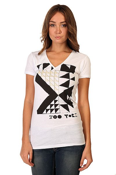 Футболка женская Zoo York Tribel Barcode Bright White<br><br>Цвет: белый<br>Тип: Футболка<br>Возраст: Взрослый<br>Пол: Женский