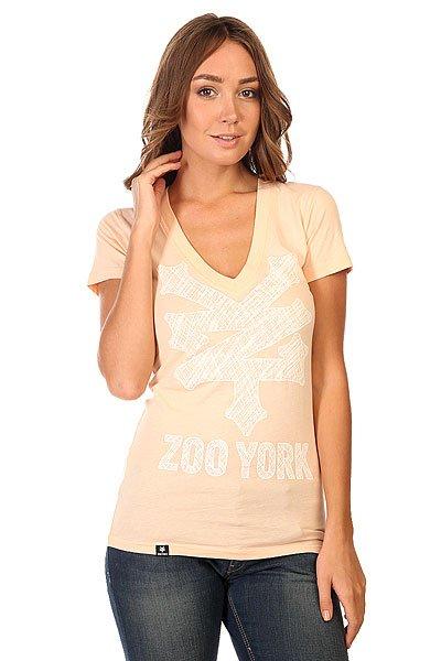 Футболка женская Zoo York V Neck Orange<br><br>Цвет: оранжевый<br>Тип: Футболка<br>Возраст: Взрослый<br>Пол: Женский