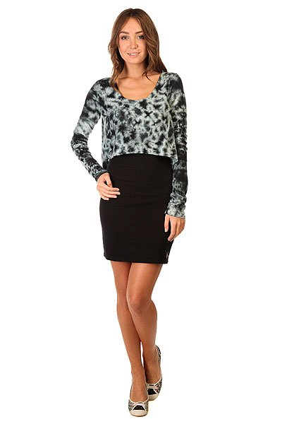 Платье женское Zoo York Business Grey<br><br>Цвет: черный,серый<br>Тип: Платье<br>Возраст: Взрослый<br>Пол: Женский