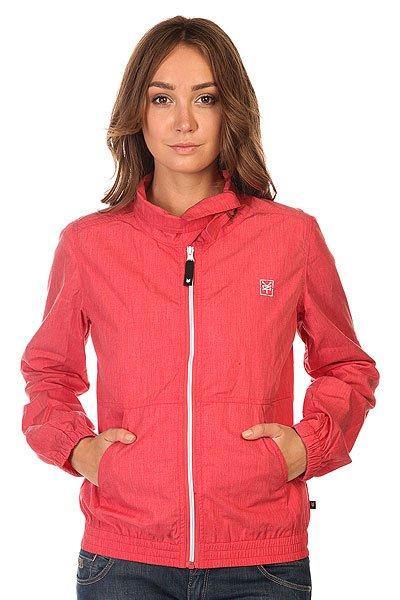 Куртка женская Zoo York Charlie ChrysantheumОтличная куртка для стильных леди. Характеристики:Застежка-молния. Манжеты на резинках. Резинка на подоле. Оригинальный воротник с ремешком.<br><br>Цвет: красный<br>Тип: Куртка<br>Возраст: Взрослый<br>Пол: Женский