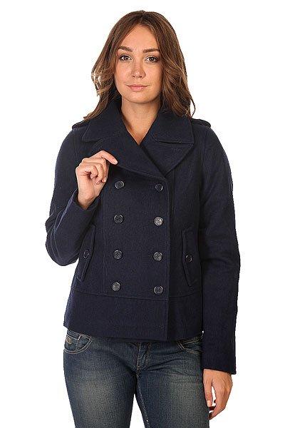 Пальто женское Zoo York Fishermans Peacoat BlueprintУкороченное демисезонное пальто классического кроя неизменно должно оставаться в вашем гардеробе.Характеристики: Внутренняя подкладка из тафты. Классический воротник.  Застежка-пуговицы.  Прорезные карманы для рук.  Фасон: стандартный (regular fit).<br><br>Цвет: синий<br>Тип: Пальто<br>Возраст: Взрослый<br>Пол: Женский