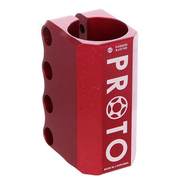 Зажимы Proto Scooters Baby Scs RedЛегкий и прочный зажим Proto Baby является уменьшенной и облегчённой версией Proto Full, но не менее надежный!Технические характеристики: Для системы SCS.Компрессионная шайба, болты, компрессионный якорь в комплекте.Материал - алюминий.<br><br>Цвет: красный<br>Тип: Зажимы