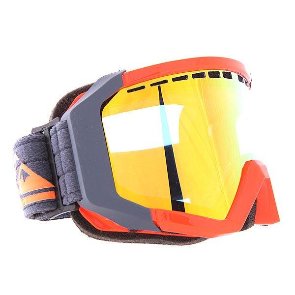 Маска для сноуборда Quiksilver Q1 Shocking OrangeНовая маска с зеркальным фильтром &amp;ndash; еще больше впечатлений и эмоций на склоне!  Достоинства:    Антифоговое покрытие от запотевания.  Полиуретановая оправа со встроенной системой вентиляции.  Категория фильтра 3: поглощает от 82% до 92% света.  100%-ая защита от УФ излучения.  Эргономичные боковые клипсы для использования с защитным шлемом.<br><br>Цвет: серый,оранжевый<br>Тип: Маска для сноуборда<br>Возраст: Взрослый<br>Пол: Мужской