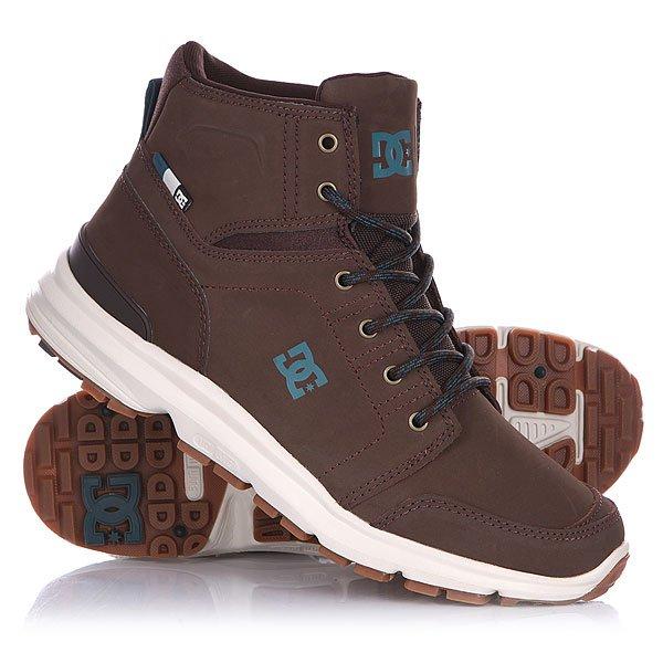 Ботинки высокие DC Torstein CoffeeDC Torstein Coffee - мужские демисезонные высокие ботинки.                         Технические характеристики: Усиленный носок и пятка.Металлические люверсы.Подкладка - текстиль. Революционная резиновая подошва UNILITE™.<br><br>Цвет: коричневый<br>Тип: Ботинки высокие<br>Возраст: Взрослый<br>Пол: Мужской