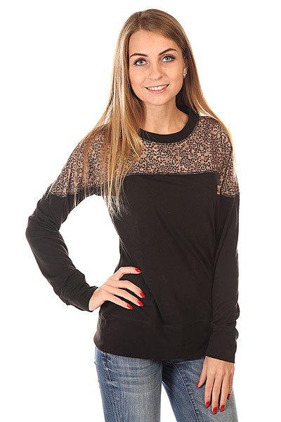 Термобелье (верх) женское DC Galena Hebon LeopardОригинальный свитшот в леопардовом дизайне &amp;ndash; отличный вариант на каждый день!  Модель с длинными рукавами, округлым вырезом горловины и флисовой подкладкой. Манжеты рукавов и низ изделия окантованы в рубчик.<br><br>Цвет: черный<br>Тип: Термобелье (верх)<br>Возраст: Взрослый<br>Пол: Женский