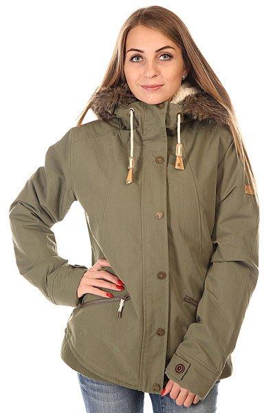 Куртка парка женская Roxy Steffi Jk Dusty OliveRoxy Steffi Jk Dusty Olive - женская утепленная куртка парка.     Технические характеристики: Утеплитель – искусственный мех.Внутренняя подкладка из искусственного меха с тафетой. Фиксированный капюшон с мехом. Застежка-молния + кнопки. Удобные карманы для рук на молнии. Фасон: парка (Parka).<br><br>Цвет: зеленый<br>Тип: Куртка парка<br>Возраст: Взрослый<br>Пол: Женский