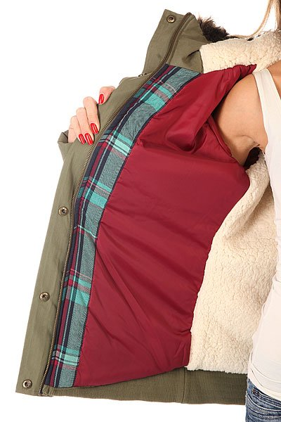 Куртка парка женская Roxy Steffi Jk Dusty Olive от Proskater