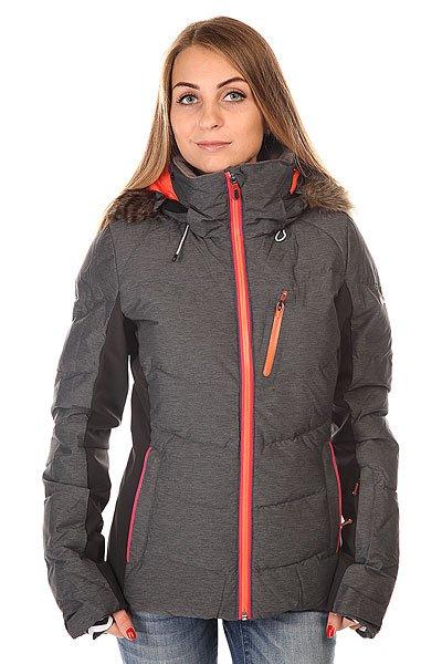 Куртка женская Roxy Snowstorm Jk J Snjt Anthracite BIOTHERMОчень тёплая куртка с наполнением из пуха и перьев и водостойкой мембраной DryFlight 15K. Отстёгивающаяся внутренняя подкладка из тафты и лайкры защищает от проникновения снега под куртку, водоотталкивающая пропитка молний и внутренние манжеты на рукавах придают дополнительный комфорт при катании.Характеристики:Водостойкая дышащая мембрана DryFlight 15K (15 000 мм, 10 000 г). Утеплитель 600 Fill Power.Боковые вставки из ультралегкой фактурной тафты и лайкры.  &amp;gt;Система креплений для брюк. Карман для телефона/плеера. Внутренний карман для очков. Дополнительные внутренние манжеты на рукавах с отверстием для большого пальца. Карман для пропуска на рукаве. Сетчатая подкладка для вентиляции. Водоотталкивающая пропитка молний YKK® Aquaguard®.Манжеты на липучках. Вшитый чип поисковой технологии пропавших RECCO®.Приталенный крой.<br><br>Цвет: серый,черный<br>Тип: Куртка утепленная<br>Возраст: Взрослый<br>Пол: Женский