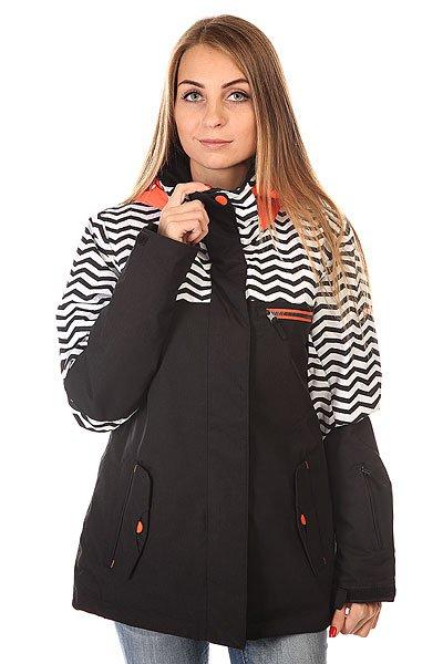 Куртка женская Roxy Jetty Block Jk J Snjt Zig Zag Stripe Anthr
