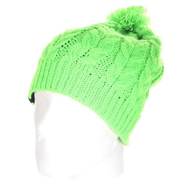 Шапка с помпоном Quiksilver Planter Beanie Green Gecko<br><br>Цвет: зеленый<br>Тип: Шапка<br>Возраст: Взрослый<br>Пол: Мужской