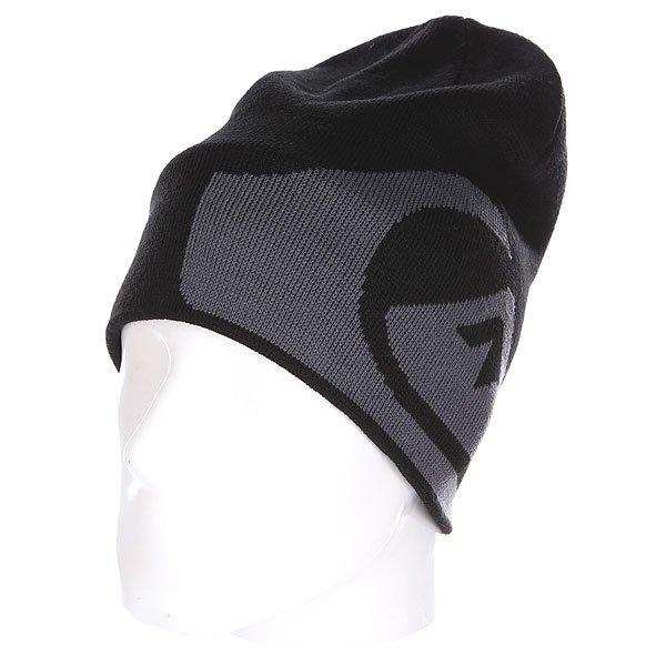 Шапка носок Quiksilver M&amp;w Beanie Black<br><br>Цвет: черный,серый<br>Тип: Шапка носок<br>Возраст: Взрослый<br>Пол: Мужской