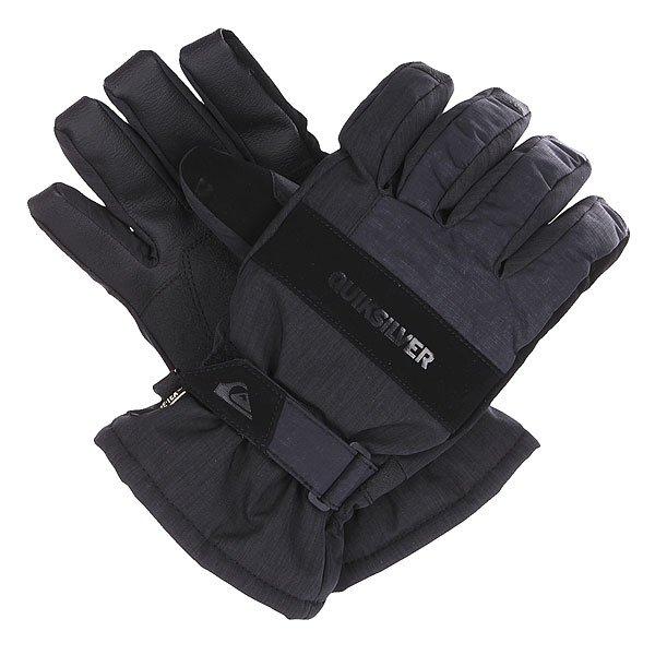 Перчатки сноубордические Quiksilver Hill Glove BlackЛучшую защиту обеспечат вам эти перчатки от культового бренда! Модель представлена в оригинальном стиле. Плоские швы, дополнительные вставки приведут в восторг.<br><br>Цвет: черный,синий<br>Тип: Перчатки сноубордические<br>Возраст: Взрослый<br>Пол: Мужской
