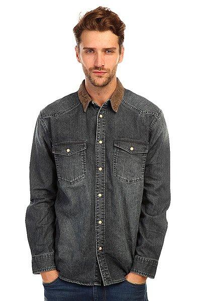 Рубашка Quiksilver Gaurentour Dark DenimРубашка в ковбойском стиле &amp;ndash; идеально сочетается с джинсами и шортами! Модель &amp;nbsp;с длинным рукавом, отложным воротником и с отделкой из вельвета.<br><br>Цвет: синий<br>Тип: Рубашка<br>Возраст: Взрослый<br>Пол: Мужской