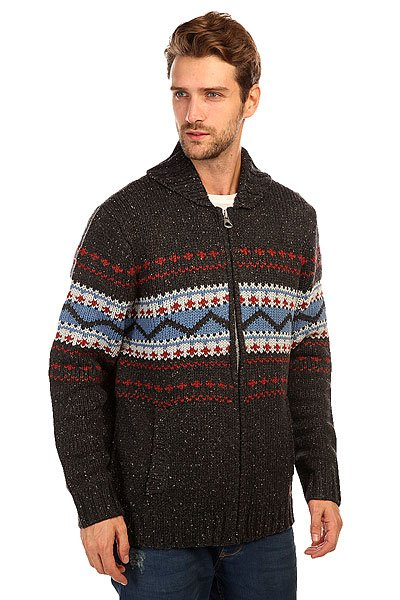 Свитер Quiksilver Surf Cardi Dark Charcoal Heathe