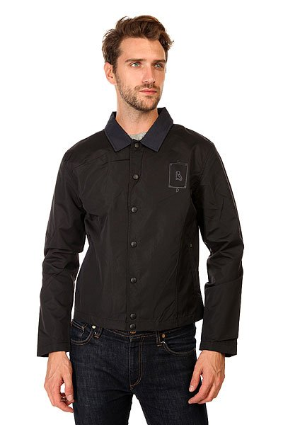 Куртка кожаная Insight 212300 BlackКлассическая мужская куртка, прекрасно подходит для ежедневных прогулок, а также для учебы или работы.Технические характеристики: Без подкладки.Отложной воротник.Боковые карманы для рук.Застежка - кнопки.Декоративные заплатки на рукавах.Принт на груди слева.Фасон - приталенный (fitted).<br><br>Цвет: черный<br>Тип: Куртка кожаная<br>Возраст: Взрослый<br>Пол: Мужской