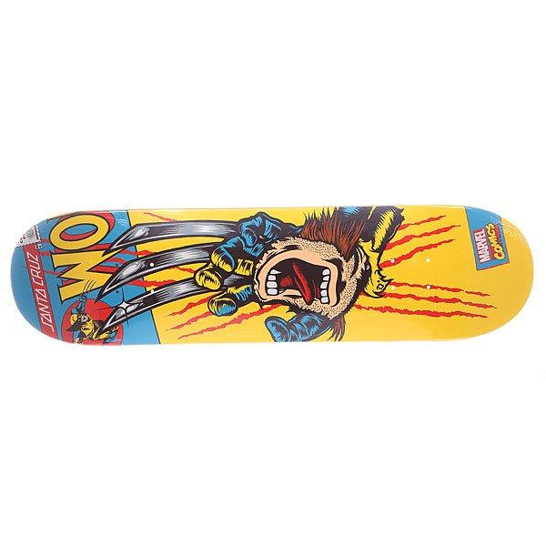 Дека для скейтборда для скейтборда Santa Cruz Marvel Hand Wolverine 31.7 x 8.25 (21 см)Ширина деки: 8.26 (21 см)    Длина деки: 31.7 (80.5 см)    Количество слоев: 7<br><br>Цвет: желтый,мультиколор<br>Тип: Дека для скейтборда<br>Возраст: Взрослый<br>Пол: Мужской