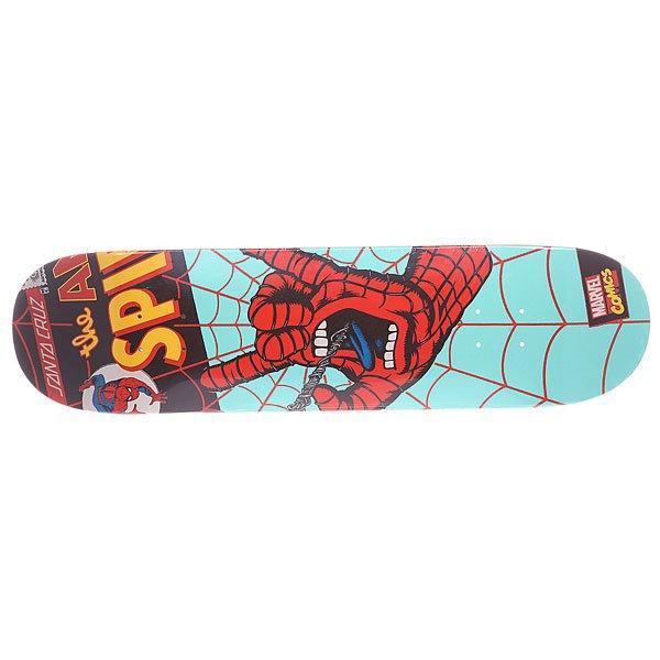 Дека для скейтборда для скейтборда Santa Cruz Marvel Hand Decks Spiderman 31.6 x 8 (20.3 см)Ширина деки: 8.0 (20.3 см)    Длина деки: 31.6 (80.3 см)    Количество слоев: 7<br><br>Цвет: голубой,красный,мультиколор<br>Тип: Дека для скейтборда<br>Возраст: Взрослый<br>Пол: Мужской