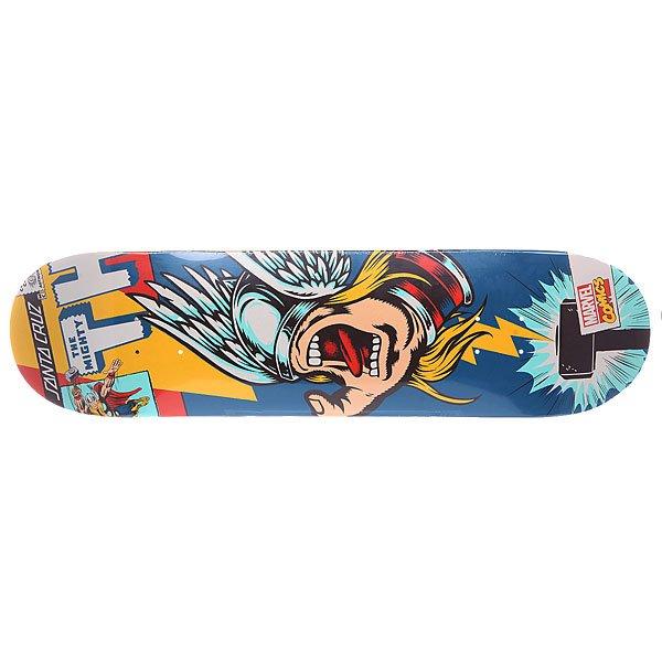 Дека для скейтборда для скейтборда Santa Cruz Marvel Hand Thor 31.7 x 8.25 (21 см)Ширина деки: 8.26 (21 см)    Длина деки: 31.7 (80.5 см)    Количество слоев: 7<br><br>Цвет: синий,желтый,мультиколор<br>Тип: Дека для скейтборда<br>Возраст: Взрослый<br>Пол: Мужской