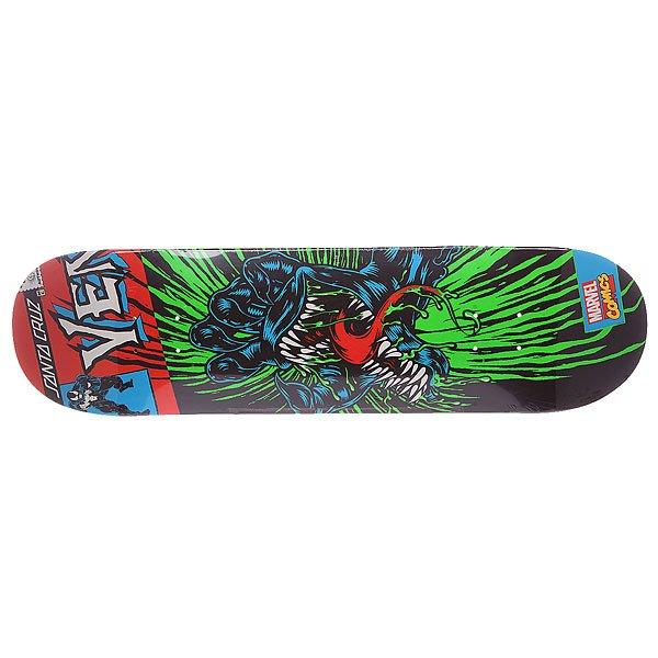 Дека для скейтборда для скейтборда Santa Cruz Marvel Hand Venom 32 x 8.3 (21.1 см)Ширина деки: 8.375 (21.3 см)    Длина деки: 32 (81.3 см)    Количество слоев: 7<br><br>Цвет: черный,зеленый,красный<br>Тип: Дека для скейтборда<br>Возраст: Взрослый<br>Пол: Мужской