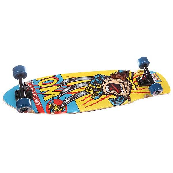 Лонгборд Santa Cruz Marvel Hand Cruzer Wolverine 9.3 x 36 (91.5 см)Santa Cruz Marvel Hand Cruzer Wolverine 9.3 x 36 (91.5 см) - лонгборд.                                                                                   Технические характеристики:  Колесная база - 57.61см.Длина - 91.5см. Ширина - 23.62см.Колеса -  65мм, 78а. Конструкция - 9 слоев канадского клена.Подшипники - АВЕС 7.<br><br>Цвет: желтый,голубой<br>Тип: Лонгборд<br>Возраст: Взрослый<br>Пол: Мужской
