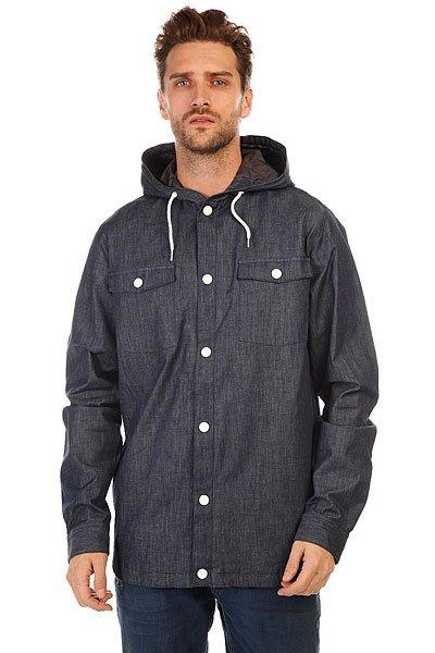 Куртка джинсовая CLWR Field Shirt DenimColour Wear Field Shirt Denim- мужская джинсовая куртка. Технические характеристики: Фиксированный капюшон на шнурках.Застежка - кнопки.Манжеты на рукавах на кнопках. Два нагрудных кармана на кнопках.Подкладка - полиэстер.Фасон: стандартный (regular fit).<br><br>Цвет: синий<br>Тип: Куртка джинсовая<br>Возраст: Взрослый<br>Пол: Мужской