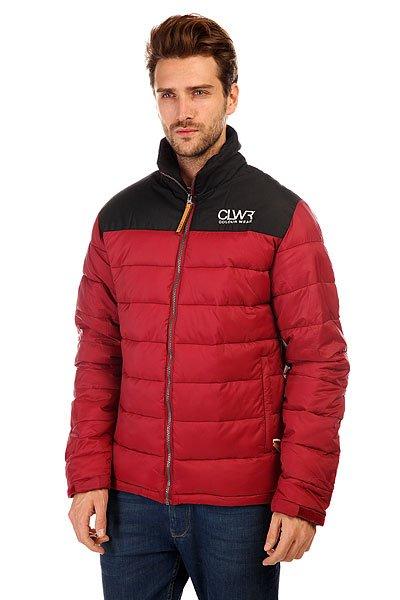 Пуховик CLWR T Jacket Burgundy пуховик женский colour wear cub jacket black