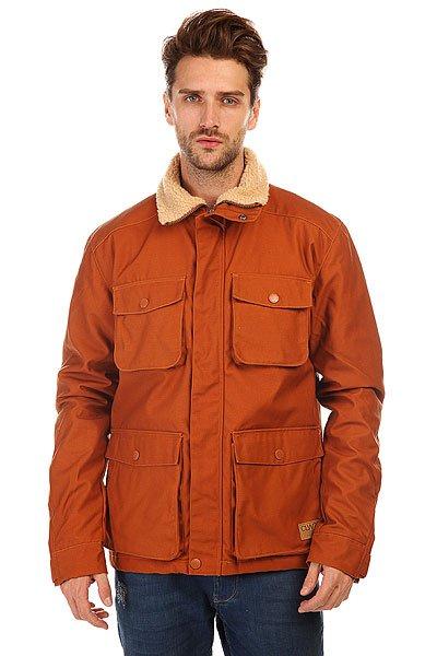 Куртка зимняя CLWR M15 Jacket AdobeColour Wear M15 Jacket Adobe - мужская зимняя куртка.                     Технические характеристики: Утеплитель - пух. Подкладка - полиэстер 250Т. Отделка воротника - искусственный мех.Два нагрудных кармана на кнопках.Карманы для рук на кнопках+боковые карманы.Манжеты на рукавах на кнопках.Застежка - молния+кнопки.Внутренний карман.Фасон: стандартный (regular fit).<br><br>Цвет: коричневый<br>Тип: Куртка зимняя<br>Возраст: Взрослый<br>Пол: Мужской