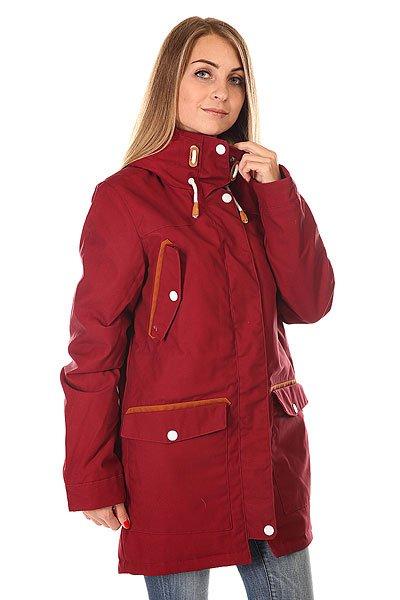 Куртка парка женская Colour Wear Range Parka Burgundy